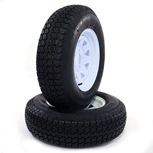 MILLION PARTS Spoke Trailer Wheel Bias ST205/75D14 Tire circle, Set of