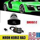 1x Car Truck Electric Air Horn Siren Speaker 5 Sound Tone Su
