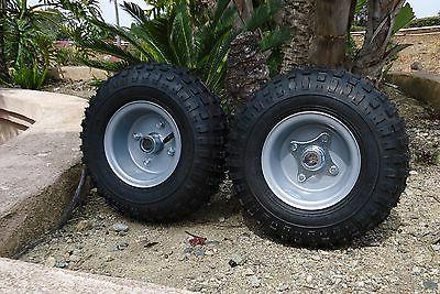 2 go kart tires and 2 piece