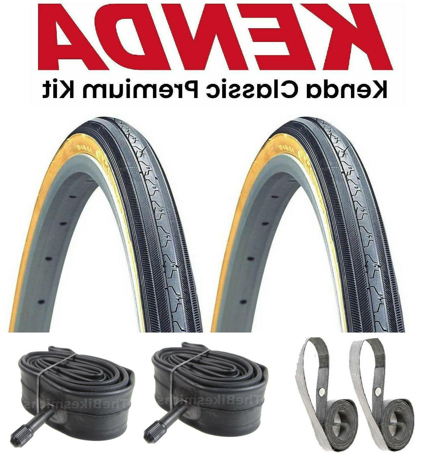 "KENDA K35 Gumwall 27x1-1//4/"" Road Bike Tires Fixed Gear Classic 27/"""
