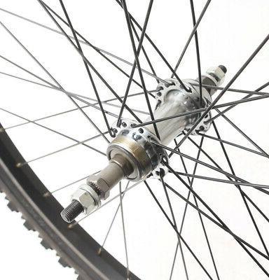 "26"" Hybrid Bike Wheelset Tires Freewheel NEW"