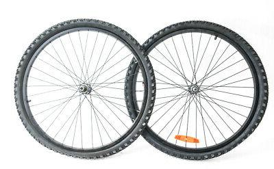 26 mountain hybrid bike wheelset tires freewheel