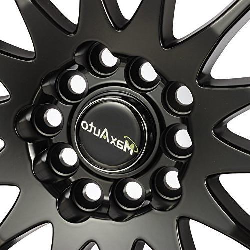 MaxAuto 5x114.3, 45, Black Finish Rims Wheels Toyota 2014 2017 Honda