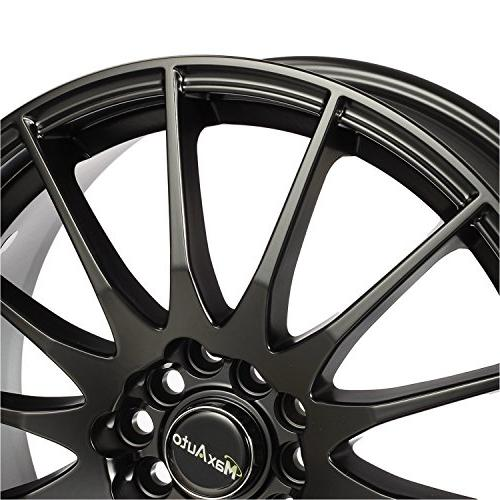 MaxAuto 4 5x114.3, 73.1, Black Finish Alloy Wheels compatible 2014 2017 Honda Accord 2003-2017 Toyota 04-17 Honda
