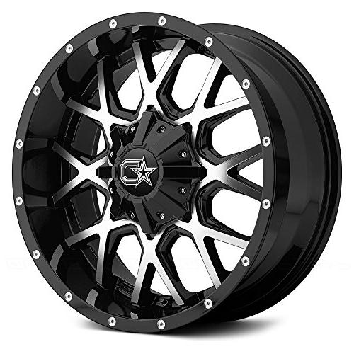645mb 18 black machined wheel rim 6x135