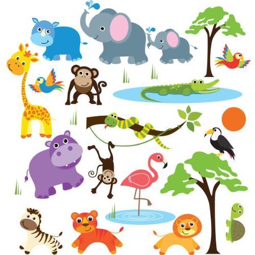 Safari Adventure Decorative Peel & Stick Wall Art Sticker De