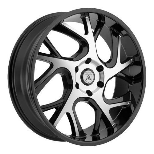 abl 16 24x9 black machined wheel rim