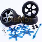 aluminum spinning rims tire set w holder