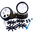 Yeah Racing Aluminum Spinning Rims Tire Set w/Holder 1:10 TR