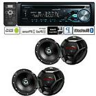 Pioneer Car Stereo Radio Bluetooth CD Player + 2 Pair JVC 6.