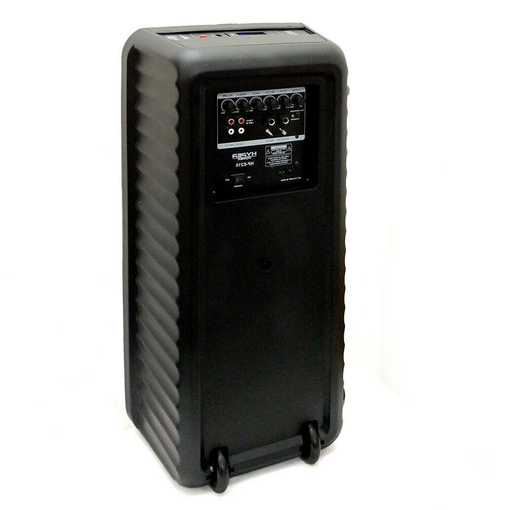 """HyperPower Double-10"""" Party Speaker SD USB"""