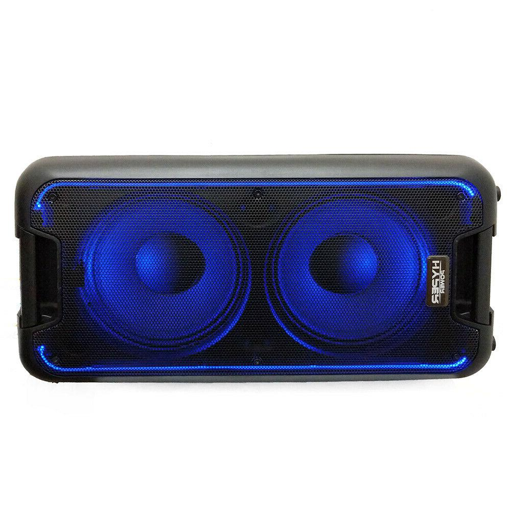 double 10 bluetooth portable party box speaker