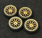 Gold R/C Sport 1/10 Scale Rims and Tires RC Car Pre-Glued !