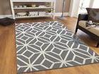 Gray Rugs 8x10 Contemporary Diamond Patterned Moroccan Geome