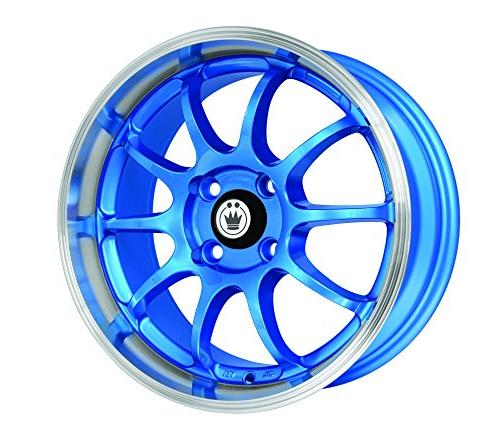 lightning blue wheel with machined lip 15x7