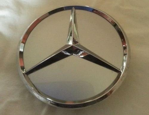 mercedes benz center cap silver chrome 3