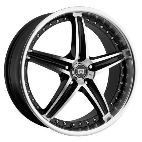 mr107 wheel with gloss black machined 18x8