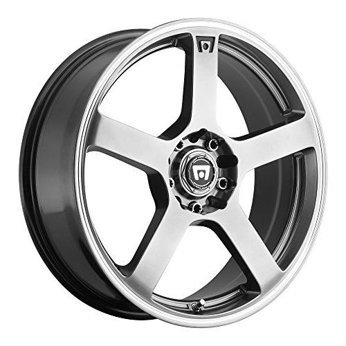 mr116 dark silver wheel with machined flange
