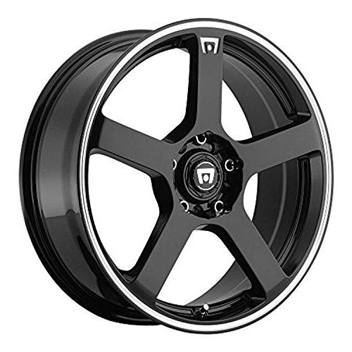 mr116 gloss black wheel with machined flange