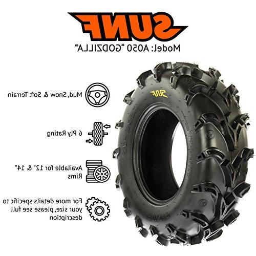 SunF Mud Race ATV UTV Tires 28x10-12 Tubeless A050,