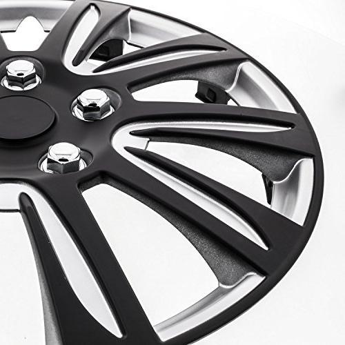Pilot Premier Black 16 Wheel Covers - Set 4