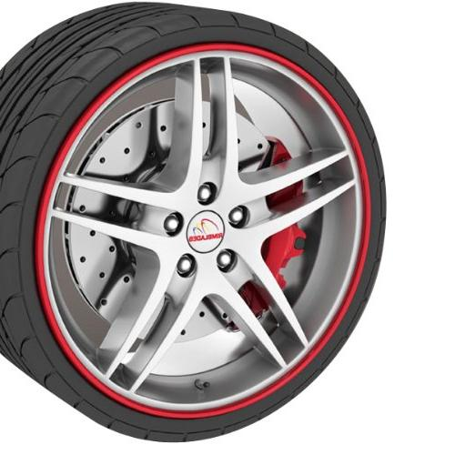 rb01 red rim blade fits 4 wheels