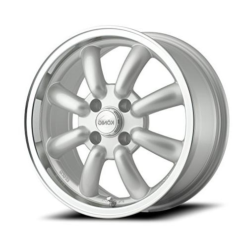 rewind silver wheel with machined lip 16x7