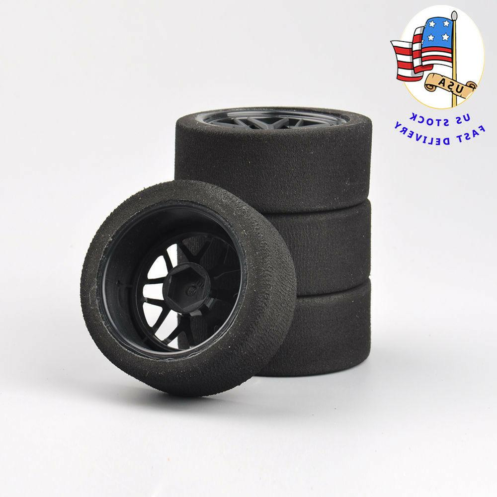 4Pcs Foam Tires Wheel Rims Set 12mm Hex For RC HSP HPI 1:10