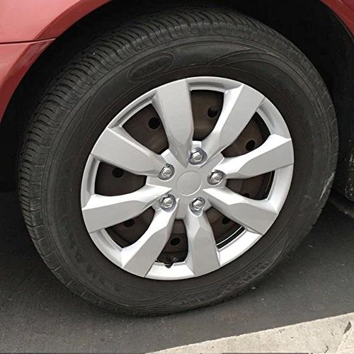 BDK Toyota Corolla Style Hubcaps - 2014 Cover, Silver, 4 Pieces