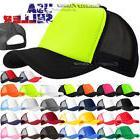 Trucker Hat Foam Meshback Baseball Cap Snapback Adjustable S