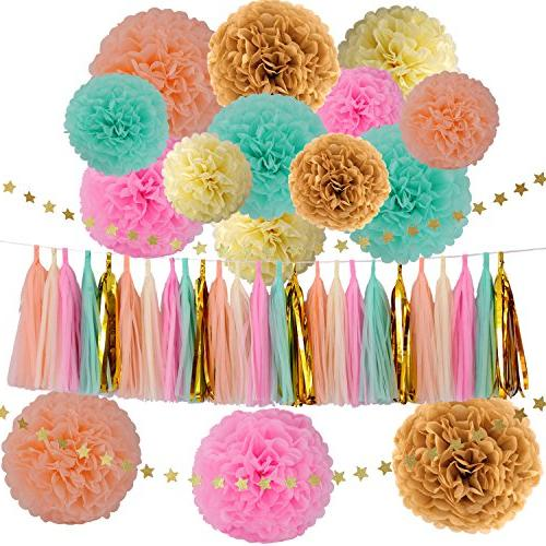 wedding party decorations gold mint