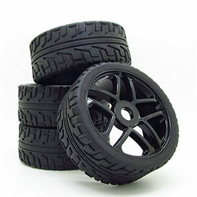 Wheel Rim&Rubber Tires RC 1:8 Off-Road Tyre 17mm Hexagonal J