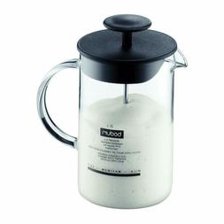 BODUM Bodum Latteo Glass Milk Frother with Handle and Black