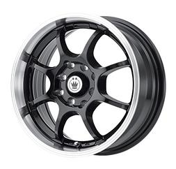 lightning gloss black wheel with machined lip
