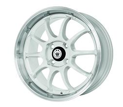 Konig Lightning White Wheel with Machined Lip