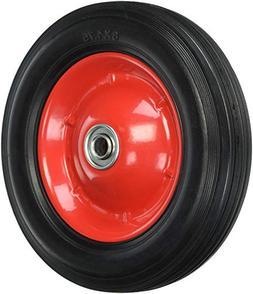 metal hub semi pneumatic rubber