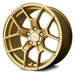 Motegi MR133 18x8.5 Gold Wheel / Rim 5x112 with a 35mm Offse
