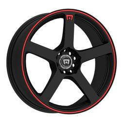 Motegi Racing MR116 Matte Black Finish Wheel with Red Accent