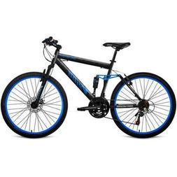 Generic Men's Mountain Bike with Full Suspension, Blue