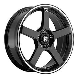 Motegi Racing MR116 Gloss Black Wheel With Machined Flange