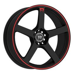 Motegi Racing MR116 Matte Black Wheel With Red Racing Stripe