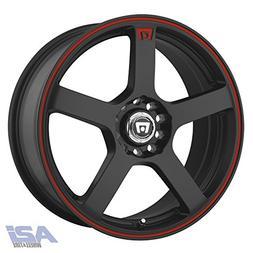 Motegi Racing MR116 Matte Black Wheel With Red Racing Stripe