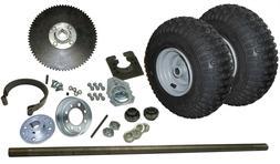 "New! Go Kart Rear End Kit w/ Tires, Rims, 1"" Axle, Brake & #"