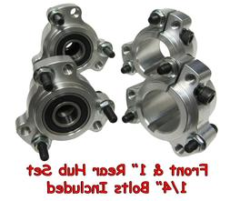 NEW! Wheel Hub Set  Go Kart Cart Parts Aluminum Rear w/Hardw
