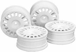 Tamiya  No.1851 OP.1851 4 Rally Dish Wheels White 24mm Width