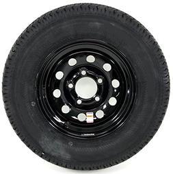 eCustomRim Radial Trailer Tire On Black Rim ST205/75R15 LRC
