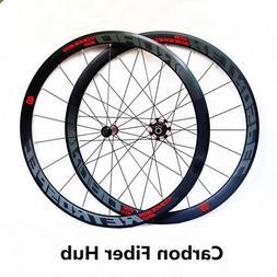 Road bike 700C carbon fiber sealed bearing hub wheels wheels