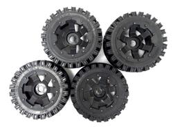 Rovan Off-Road Knobby Tires Mounted on 6 Spoke Rims Fits HPI