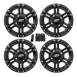 "RockTrix RT101 4pc 12"" ATV Wheels 4x110 Rims 