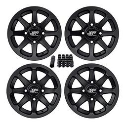 "RockTrix RT102 12"" ATV Wheels 4x110 Rims 